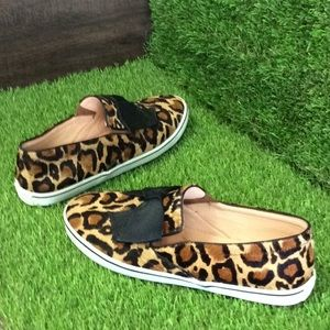 Kate Spade Leopard Print Sneakers w/ Bow